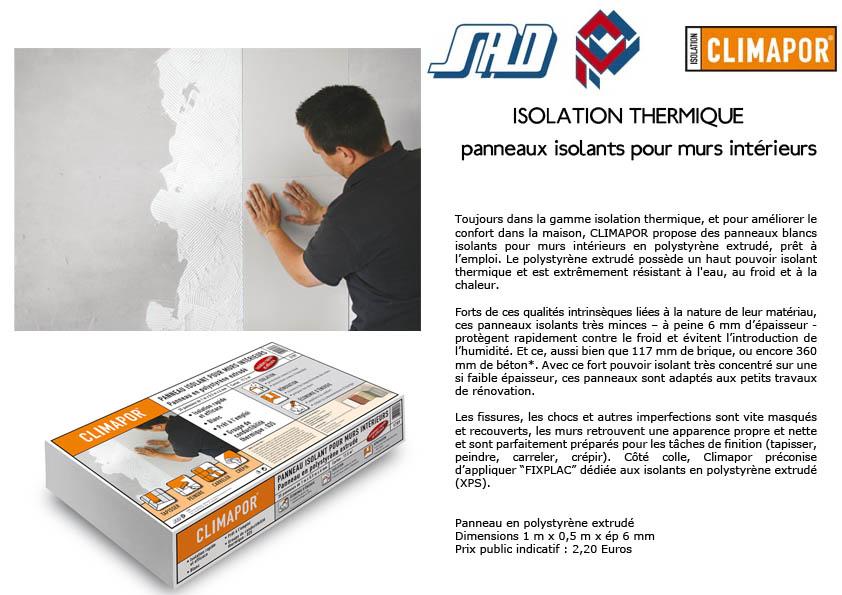source a id climapor solutions simples et rapides pour l 39 isolation phonique et thermique. Black Bedroom Furniture Sets. Home Design Ideas