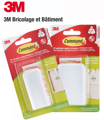 Accroches toiles Command 3M