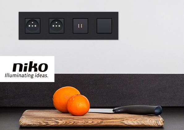 source a id nouvel appareillage mural signe niko. Black Bedroom Furniture Sets. Home Design Ideas