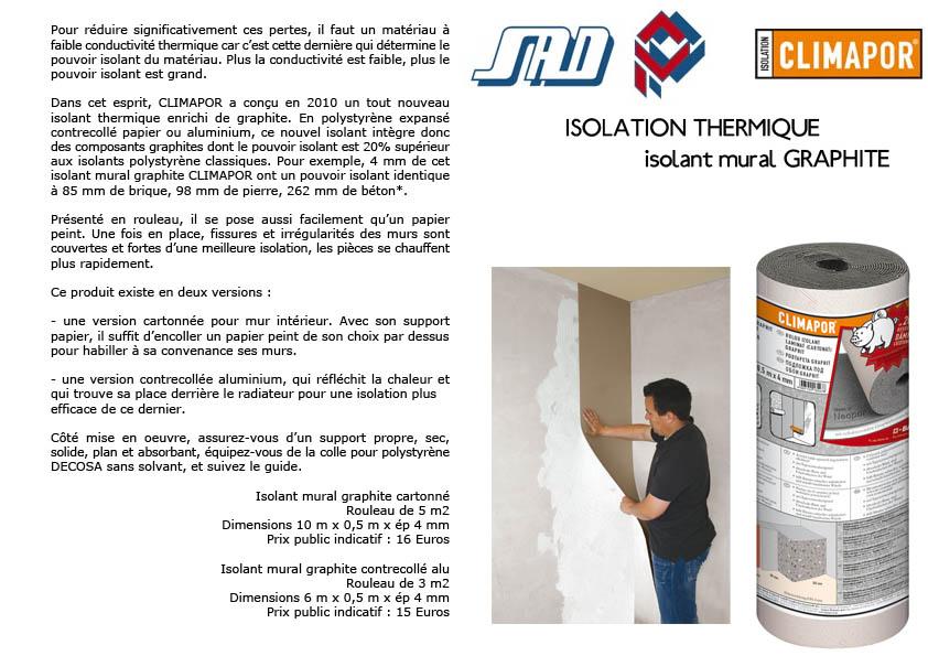 Source a id climapor solutions simples et rapides pour l 39 isolation phonique et thermique - Meilleur isolant phonique mur ...