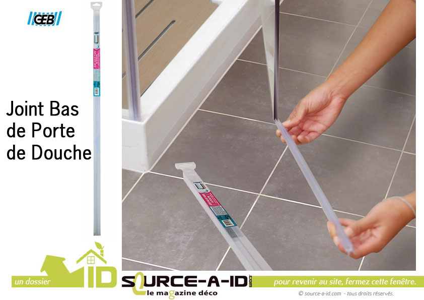 Source a id joint bas pour porte de douche la solution for Joint double levre porte douche