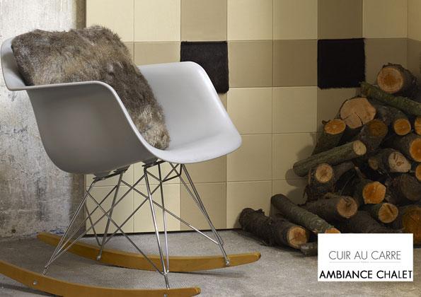 source a id cuir au carre habillez vos murs avec elegance. Black Bedroom Furniture Sets. Home Design Ideas