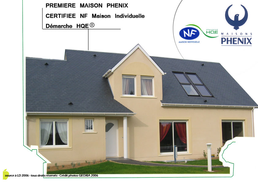 Source a id une maison certifiee nf maison individuelle demarche hqe for Demarche construction maison